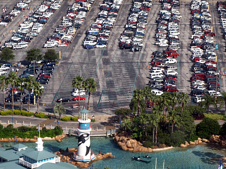 Parking lot at SeaWorld Orlando