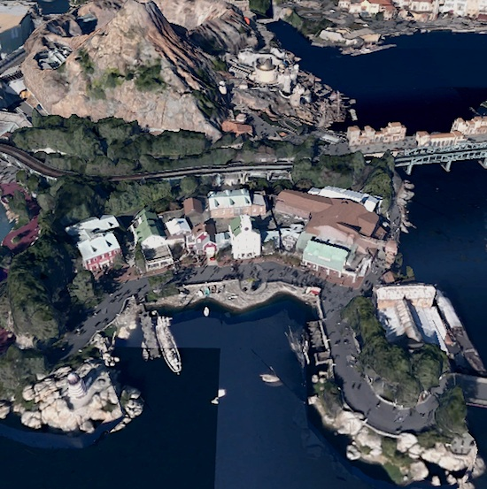 Aerial view of Cape Cod in DisneySea