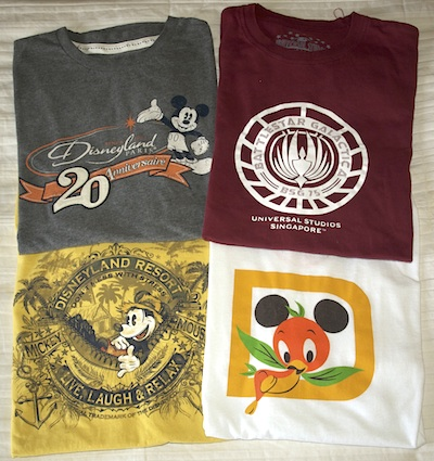 Robert's theme park T-shirts