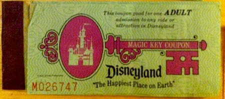 Disneyland adult Magic Key ticket