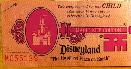 Disneyland child Magic Key ticket