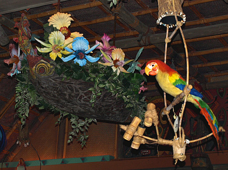 Jose and the singing flowers in Disneyland's Enchanted Tiki Room