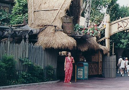 The Enchanted Tiki Room, with 1990 hostess costume