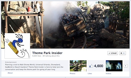 Theme Park Insider's Facebook page
