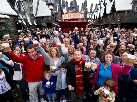 A really big Butterbeer toast
