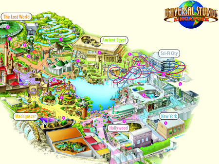 First look at the theme park map for Universal Studios Singapore