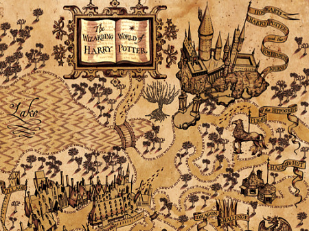Wizarding World of Harry Potter Map