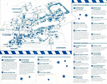 Inside of the 1990 USF theme park guide map