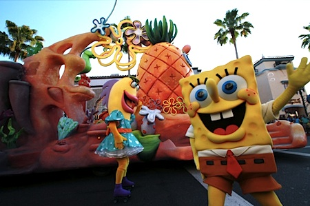 Spongebob in Universal's Superstar Parade