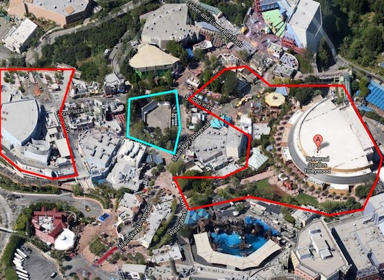 Universal Studios Hollywood construction map