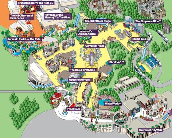 2013 USH park map