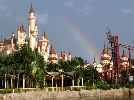 Castle over the rainbow