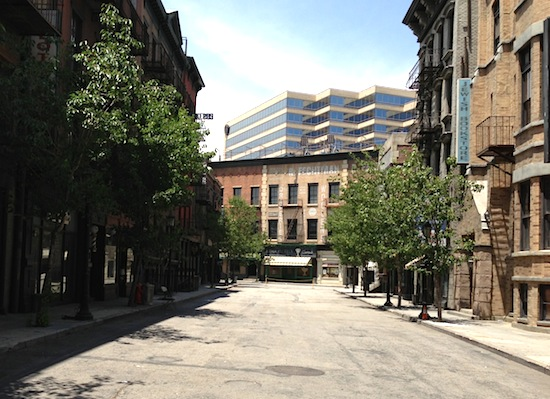 Backlot street set