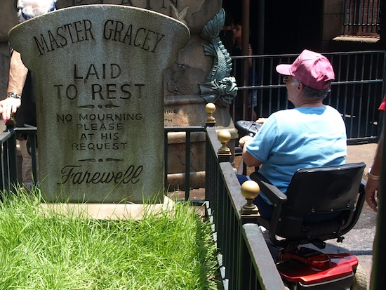 Wheelchair at the Haunted Mansion