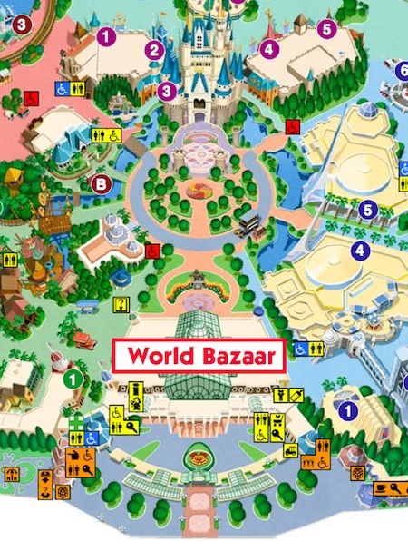 Part of the Tokyo Disneyland park map