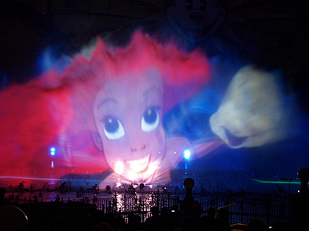Ariel and Flounder in World of Color