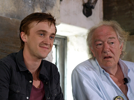 Tom Felton and Michael Gambon