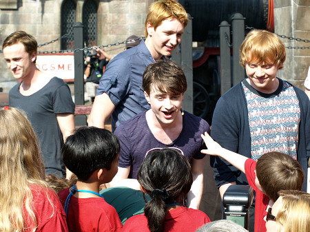 Tom Felton, Daniel Radcliffe, Oliver Phelps and Rupert Grint