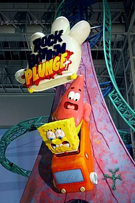 SpongeBob SquarePants Rock Bottom Plunge roller coaster