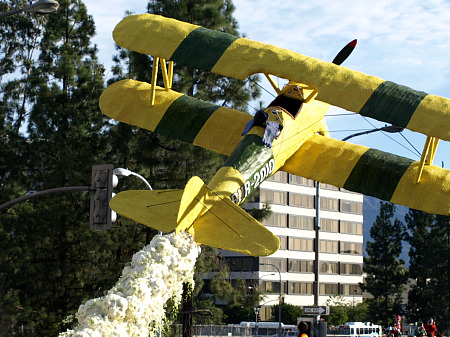 Burbank's biplane