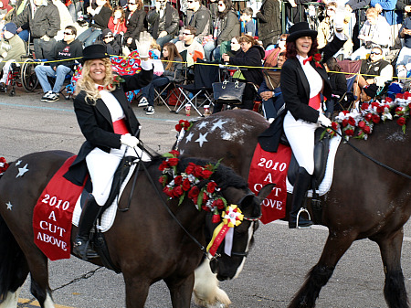 Equestrians in the Rose Parade