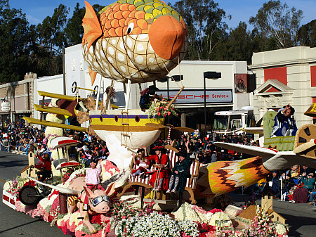 Trader Joe's Rose Parade float