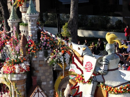 Bayer Advanced's 2011 Rose Parade castle