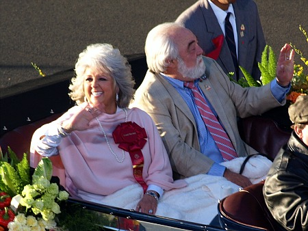 Paula Deen at the Rose Parade