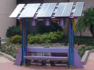 Solar-Powered Bench