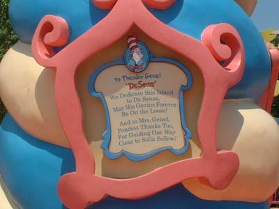 Plaque To Dr. Seuss