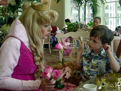 Tea party character meal at Disney World's Grand Floridian