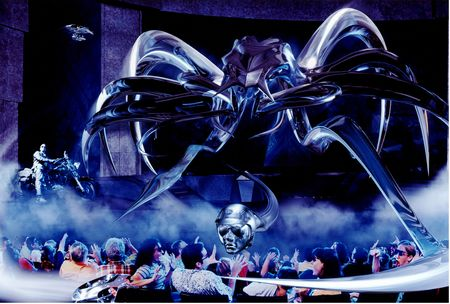 2010 best theme park attraction terminator 2 3d vs for 1 2 3 4 monsters walking across the floor