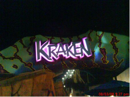 Kraken photo, from ThemeParkInsider.com
