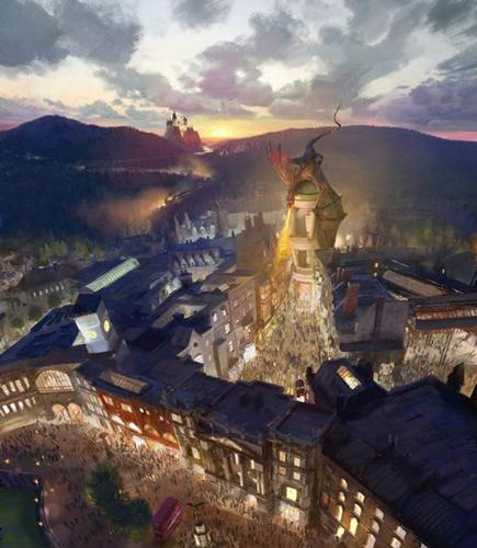 Diagon Alley concept art