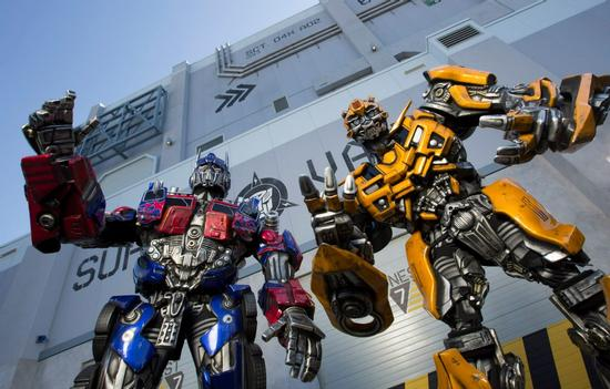 Optimus and Bumble Bee