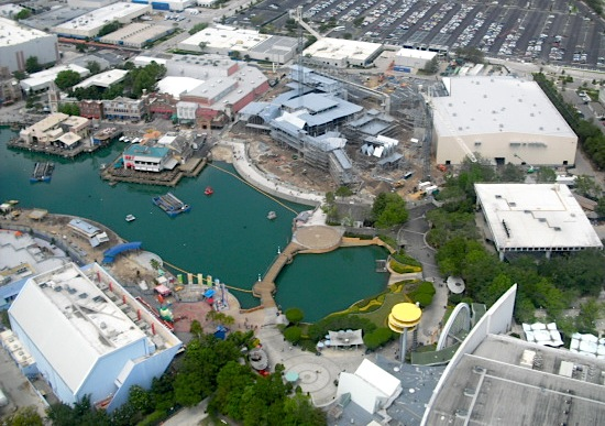 Aerial construction photo of Universal Studios Florida