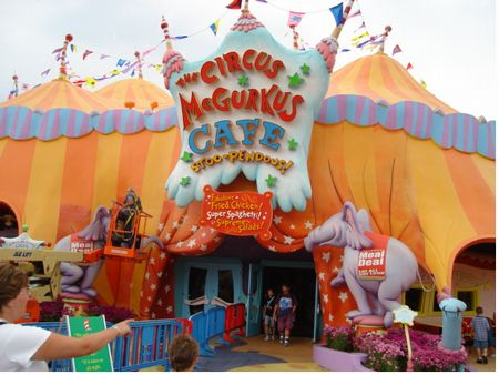 Circus McGurkus Cafe Stoopendous photo, from ThemeParkInsider.com