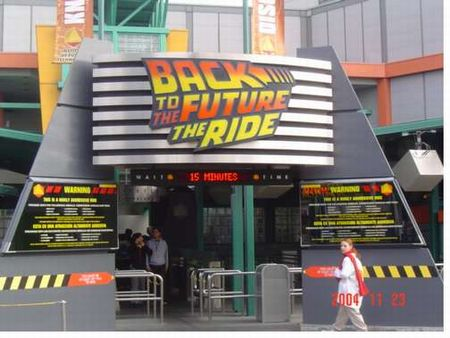 Back to the Future at Universal Studios Hollywood