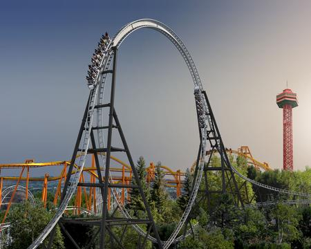 Concept art of Full Throttle, courtesy Six Flags