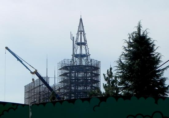 Wizarding World of Harry Potter Japan construction photo