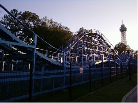 Ghoster Coaster photo, from ThemeParkInsider.com