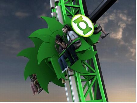 Green Lantern roller coaster at Six Flags Magic Mountain