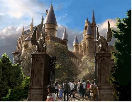 Harry Potter and the Forbidden Journey concept art