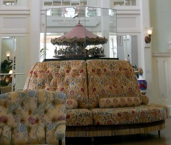 Carousel and sofa