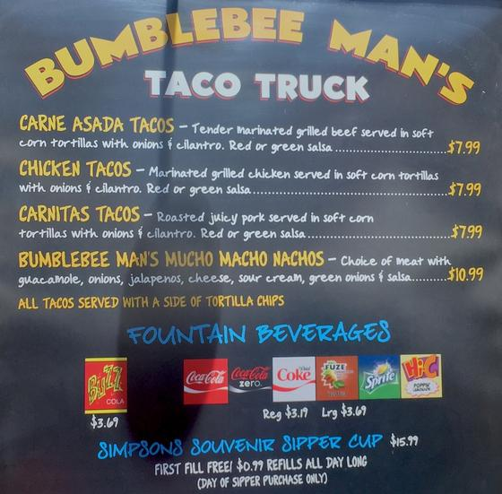 Bumblebee Man's Taco Truck photo, from ThemeParkInsider.com