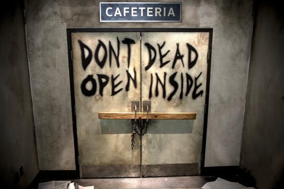 The Walking Dead cafeteria doors