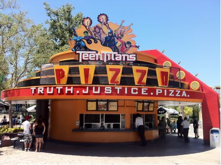 Teen Titans Pizza photo, from ThemeParkInsider.com