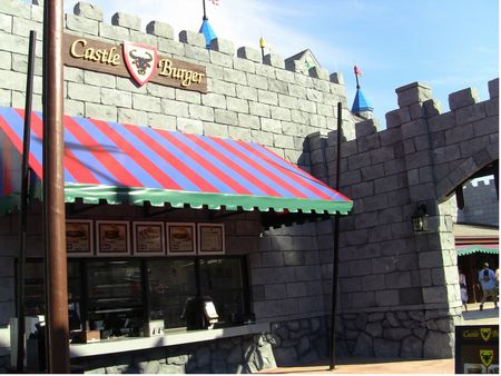 Castle Burger photo, from ThemeParkInsider.com