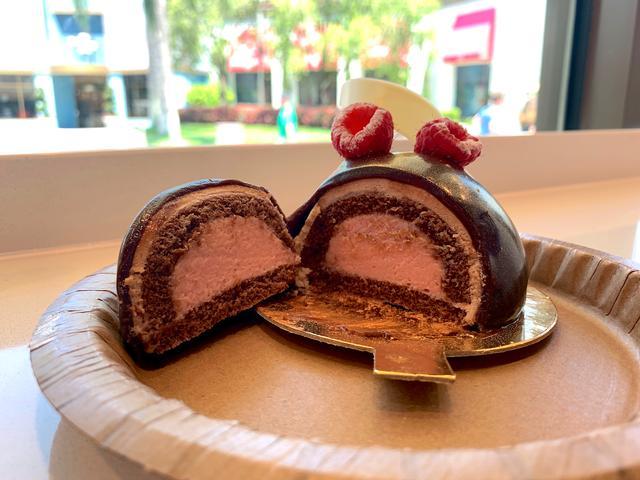 Raspberry Chocolate Bombe