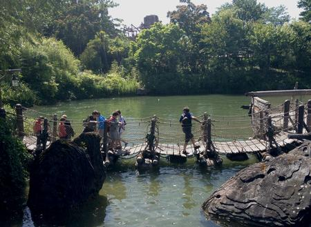 Adventure Isle barrel bridge